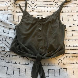 Olive Urban Outfitters Crop Top